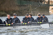 Putney, London, Pre Boat Race Fixture, <br /> Oxford University Women's Boat Club {OUWBC} vs Molesey Boat Club, over the River Thames, Championship Course Putney to Mortlake Sunday 28/02/2016.  [Mandatory Credit; Patrick White/Intersport-images]<br /> <br /> Oxford on Middlesex, Crew Cox &ndash; Morgan Baynham-Williams, Stroke &ndash; Lauren Kedar, 7 &ndash; Maddy Badcott, 6 &ndash; Anastasia Chitty, 5 &ndash; Elo Luik, 4 &ndash; Ruth Siddorn, 3 &ndash; Joanneke Jansen, 2 &ndash; Emma Spruce, Bow &ndash; Emma Lukasiewicz<br /> <br /> Molesey on Surrey, Crew Cox &ndash; Henry Fieldman, Stroke &ndash; Helen Roberts, 7 &ndash; Gabby Rodriguez, 6 &ndash; Vickie Watts, 5 &ndash; Rebecca Edwards, 4 &ndash; Aimee Jonckers, 3 &ndash; Beccy Girling, 2- Georgie Grant, Bow &ndash; Lucy Primmer