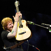 Ed Sheeran performs to a sold out Verizon Theatre on Thursday Night. (Special to the Star-Telegram/Rachel Parker)