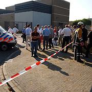 Gas lekkage bij BNI Huizen, ontruiming personeel