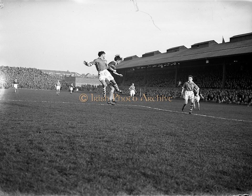 17/03/1958<br /> 03/17/1958<br /> 17 March 1958<br /> Soccer: League of Ireland v Irish League at Dalymount Park, Dublin.
