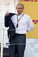 Vladimir Putin during the 2014 Formula One World Championship, Russia Grand Prix from October 9th to 12th 2014 in Sotchi, Russia. Photo Florent Gooden / DPPI.