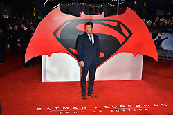 © Licensed to London News Pictures. 22/03/2016. Guests including ZACK SNYDER, BEN AFFLECK, HENRY CAVILL, GAL GADOT, JESSE EISENBERG, AMY ADAMS, HOLLY HUNTER, MARK HAMILL, and EMMA BUNTON attend the Batman V Superman: Dawn of Justice European film premiere. The film is based on the DC Comics characters. London, UK. Photo credit: Ray Tang/LNP