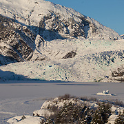 The Mendenhall glacier just near Juneau in Alaska, USA