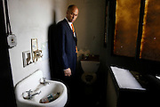 Newly elected Newark Mayor Cory Booker visits a police station in the city that does not even have working bathrooms.