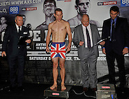 Picture by Alan Stanford/Focus Images Ltd +44 7915 056117<br />04/10/2013<br />Ryan Walsh pictured during Matchroom Sports weigh in at The O2 Arena, London.