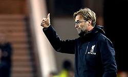 An animated Liverpool manager Jurgen Klopp gives a thumbs up to his players - Mandatory by-line: Robbie Stephenson/JMP - 14/12/2016 - FOOTBALL - Riverside Stadium - Middlesbrough, England - Middlesbrough v Liverpool - Premier League