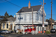 Horse carrigne in the Faugburg Maringy neighborhood in New Orleans.