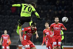 December 12, 2017 - Ostende, Belgique - OOSTENDE, BELGIUM - DECEMBER 12 : Orlando Sa forward of Standard Liege scores a goal against Aleksandar Bjelica defender of KV Oostende during the Belgian Croky Cup match between KV Oostende and Standard de Liege on December 12, 2017 in Oostende, Belgium, 12/12/2017 (Credit Image: © Panoramic via ZUMA Press)