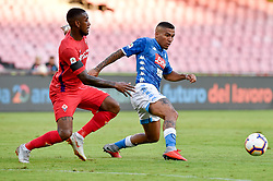 September 15, 2018 - Allan of SSC Napoli is challenged by Gerson of ACF Fiorentina during the Serie A match between Napoli and Fiorentina at Stadio San Paolo, Naples, Italy on 15 September 2018. Photo by Giuseppe Maffia. (Credit Image: © AFP7 via ZUMA Wire)