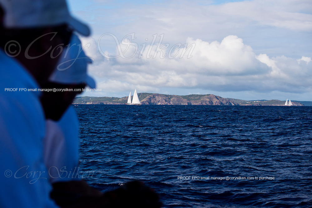 Sailing onboard P2 in the Antigua Superyacht Challenge, day one.