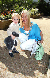 WENDY KNATCHBULL and her son FREDERICK KNATCHBULL at a children's party to celebrate the launch of the new Baby Dior store in London - held in Eaton Square, London on 8th June 2005.<br /><br />NON EXCLUSIVE - WORLD RIGHTS