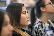 Alyssa Valiente during the first event of the Mihaylo College of Business and Economics Women's Leadership Program at California State University Fullerton  on Friday, Nov. 6, 2015 in Fullerton, California.