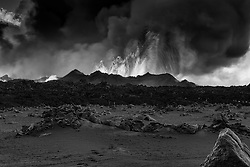 Volcano eruption at Holuhraun, highlands of Iceland - Eldgos við Holuhraun