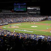 Eric Hosmer, Kansas City Royals, errors at first base during the New York Mets Vs Kansas City Royals, Game 5 of the MLB World Series at Citi Field, Queens, New York. USA. 1st November 2015. Photo Tim Clayton