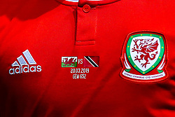 Wales shirt for the friendly against Trinidad and Tobago - Mandatory by-line: Robbie Stephenson/JMP - 20/03/2019 - FOOTBALL - The Racecourse Ground - Wrexham, United Kingdom - Wales v Trinidad and Tobago - International Challenge Match