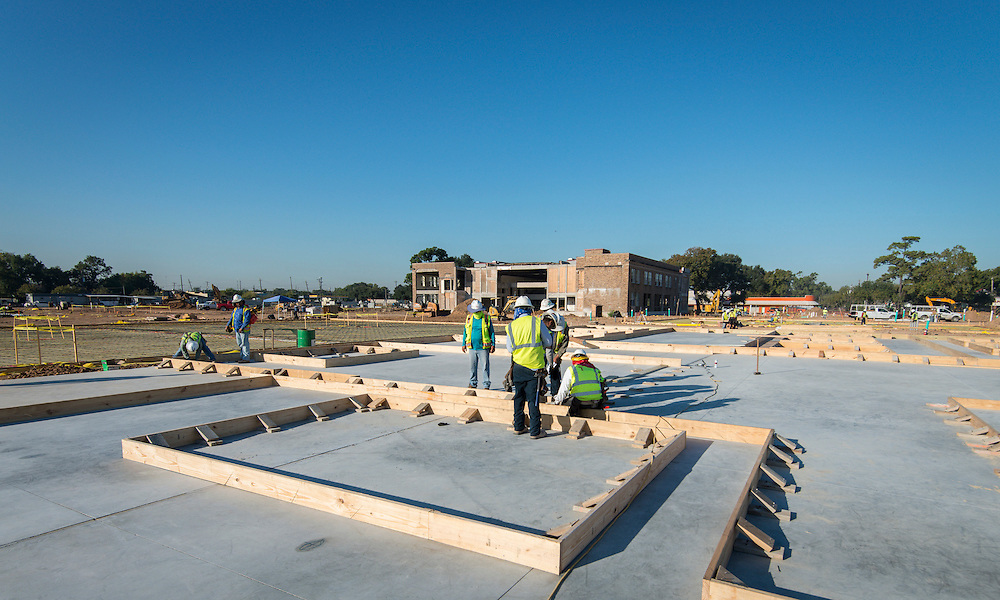Construction at Milby High School, October 16, 2015.