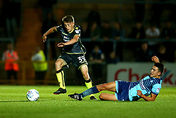 Cameron Hargreaves of Bristol Rovers beats Luke O'Nien of Wycombe Wanderers - Mandatory by-line: Robbie Stephenson/JMP - 29/08/2017 - FOOTBALL - Adam's Park - High Wycombe, England - Wycombe Wanderers v Bristol Rovers - Checkatrade Trophy