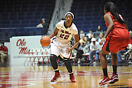 """Ole Miss' Danielle McCray (22) vs. Lamar in women's college basketball at the C.M. """"Tad"""" Smith Coliseum in Oxford, Miss. on Monday, November 19, 2012.  Lamar won 85-71."""