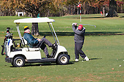 Davenport, Iowa USA, Golfing on Credit Island park. October 2006