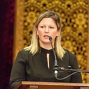 NLD/Den Haag/20171221 - Koning bij sluitingsceremonie Joegoslavie tribunaal, Marie O'Leary