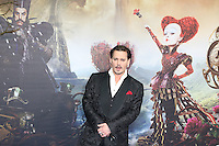 Johnny Depp, Alice Through The Looking Glass - European film premiere, Leicester Square gardens, London UK, 10 May 2016, Photo by Richard Goldschmidt