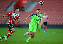 SOUTHAMPTON, ENGLAND - Monday, April 10, 2017: Liverpool's Paulo Alves in action against Southampton during FA Premier League 2 Division 1 Under-23 match at St.Mary's Stadium. (Pic by David Rawcliffe/Propaganda)
