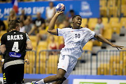 Dylan Nahi of France during handball match between National teams of Germany and France in Semifinal of 2018 EHF U20 Men's European Championship, on July 25, 2018 in Arena Zlatorog, Celje, Slovenia. Photo by Urban Urbanc / Sportida