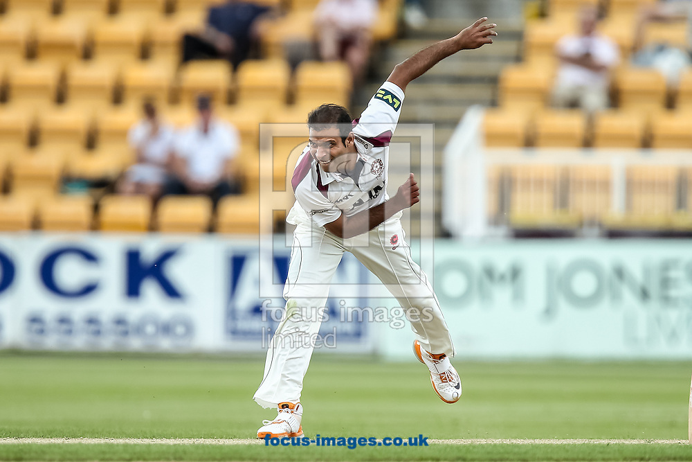 Muhammad Azhar Ullah of Northamptonshire County Cricket Club during the LV County Championship Div One match at the County Ground, Northampton, Northampton<br /> Picture by Andy Kearns/Focus Images Ltd 0781 864 4264<br /> 01/06/2014