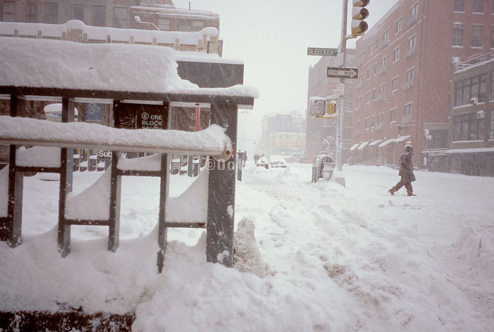 New York City under snow