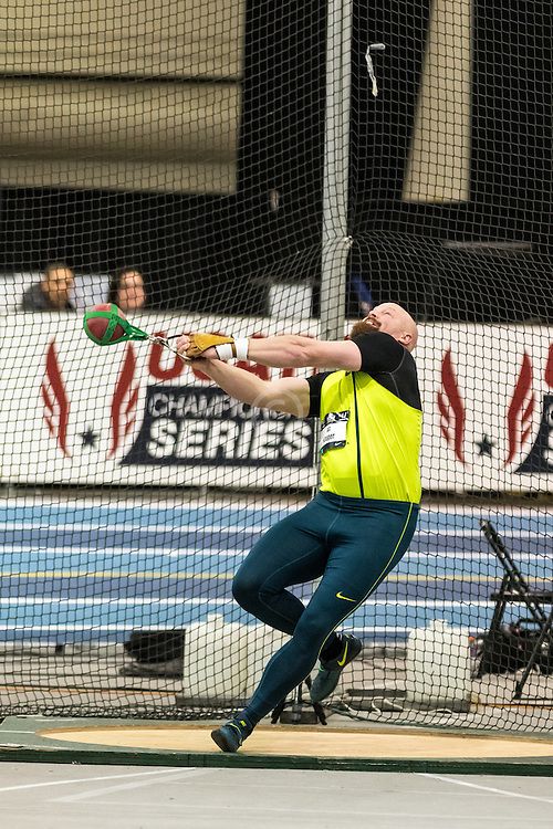 USATF Indoor Track & Field Championships: mens weight throw, AG Kruger, Nike