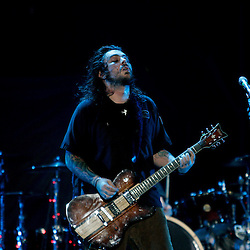 17 April, 2009: Shaun Morgan of Seether performs as one of the opening acts in support of Nickelback's new album 'Dark Horse' for their 2009 concert tour stop at the New Orleans Arena in New Orleans, Louisiana.