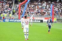 Joie Lyon - Alexandre LACAZETTE - 02.05.2015 - Lyon / Evian Thonon - 35eme journee de Ligue 1<br />Photo : Jean Paul Thomas / Icon Sport