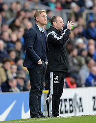 Swansea City Manager, Garry Monk and Assistant Kristian O' Leary look on - Photo mandatory by-line: Richard Martin Roberts/JMP - Mobile: 07966 386802 - 24/01/2015 - SPORT - Football - Blackburn - Ewood Park - Blackburn Rovers v Swansea City - FA Cup Fourth Round