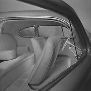 Factory photo of a 1938 Studebaker President Coupe's interior.