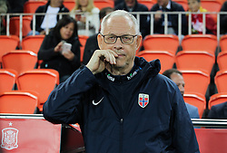 March 23, 2019 - Valencia, Valencia, Spain - Lars Lagerback of Norway in action during European Qualifiers championship, , football match between Spain and Norway, March 23th, in Mestalla Stadium in Valencia, Spain. (Credit Image: © AFP7 via ZUMA Wire)