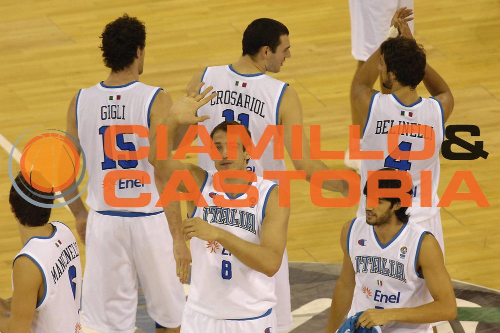 DESCRIZIONE : Madrid Spagna Spain Eurobasket Men 2007 Qualifying Round Italia Turchia Italy Turkey <br /> GIOCATORE : Denis Marconato Team Italia Team Italy <br /> SQUADRA : Nazionale Italia Uomini Italy <br /> EVENTO : Eurobasket Men 2007 Campionati Europei Uomini 2007 <br /> GARA : Italia Turchia Italy Turkey <br /> DATA : 10/09/2007 <br /> CATEGORIA : Esultanza <br /> SPORT : Pallacanestro <br /> AUTORE : Ciamillo&amp;Castoria/N.Parausic <br /> Galleria : Eurobasket Men 2007 <br /> Fotonotizia : Madrid Spagna Spain Eurobasket Men 2007 Qualifying Round Italia Turchia Italy Turkey <br /> Predefinita :