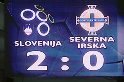 Result at the fourth round qualification game of 2010 FIFA WORLD CUP SOUTH AFRICA in Group 3 between Slovenia and Northern Ireland at Stadion Ljudski vrt, on October 11, 2008, in Maribor, Slovenia.  (Photo by Vid Ponikvar / Sportal Images)