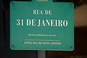 street sign Rua de 31 de Janeiro, Santo Antonio, Porto, Portugal