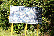 Faded road sign near Castillo Las Nubes, Soroa, Artemisa, Cuba.