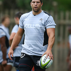 DURBAN, SOUTH AFRICA - Willem Alberts during the Cell C Sharks training session at Growthpoint Kings Par in Durban, South Africa. (Photo by Steve Haag)