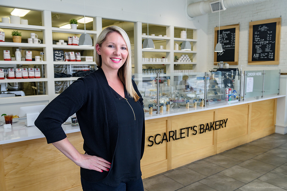 Rachelle Starr, Founder of Scarlet's Bakery, 741 E. Oak, at the corner of Oak and Shelby Streets in the Smoketown neighborhood. April 18, 2018