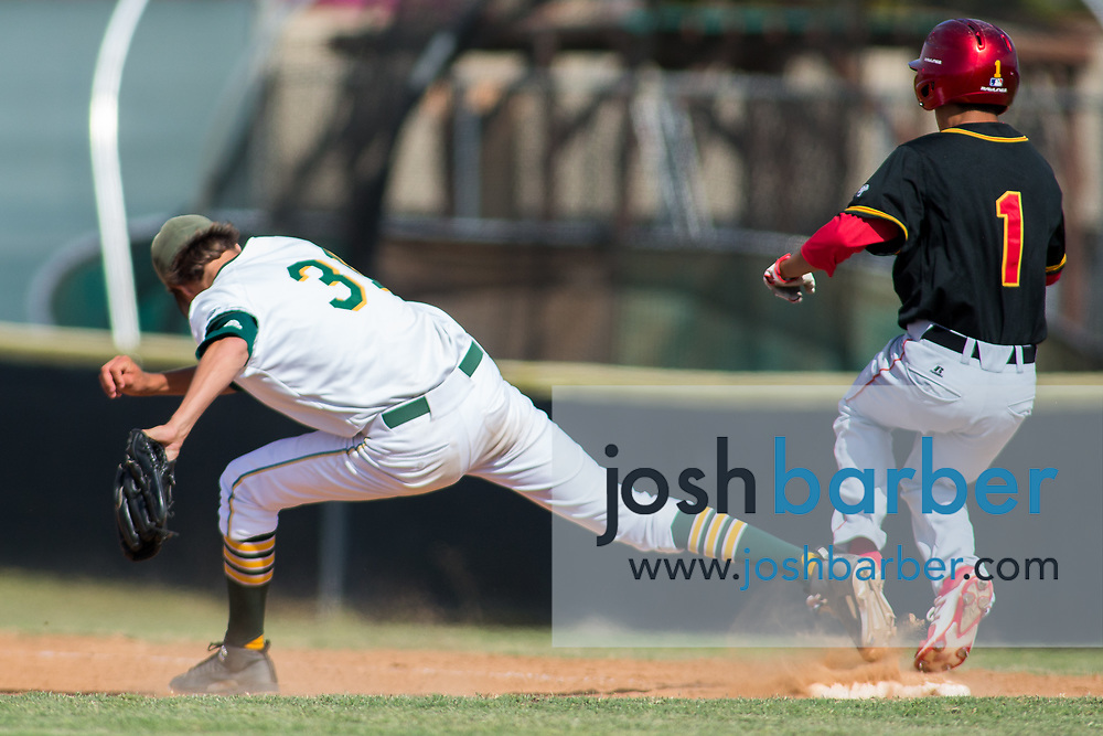 Edison's Riley Haddon during the CIF-SS Division 2 Quarterfinal: Palm Desert v Edison at Edison High School on Friday, May 26, 2017 in Huntington Beach, Calif. (Photo by Josh Barber, Contributing Photographer)