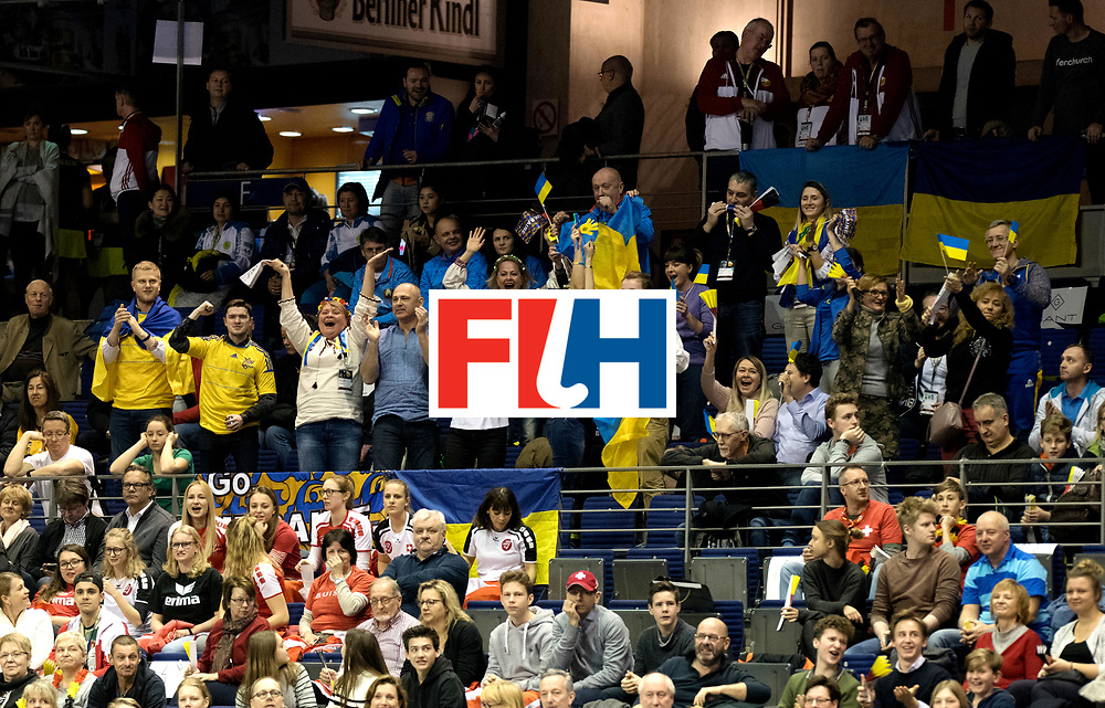 BERLIN - Indoor Hockey World Cup<br /> Quarterfinal 2: Ukraine - Switzerland<br /> foto: Ukraine.<br /> WORLDSPORTPICS COPYRIGHT FRANK UIJLENBROEK