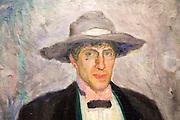 Detail of 'Portrait of Nikolai Astrup, after 1911, oil painting on canvas by Bernhard Folkestad 1879-1933, Kode 4 art gallery Bergen, Norway