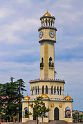 Old Clock Tower in Miracle Park, on the Black Sea coast in Batumi, Georgia