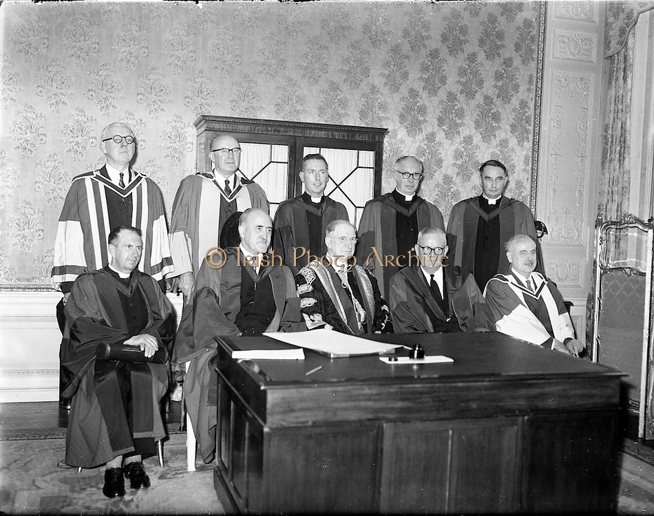 Conferring of Honorary Degrees by the National University at Iveagh House Dublin..13.07.1961