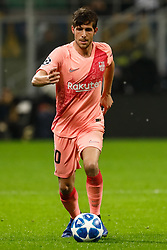 November 7, 2018 - Milan, Italy - Sergi Roberto of Barcelona in action during the Group B match of the UEFA Champions League between FC Internazionale and FC Barcelona on November 6, 2018 at San Siro Stadium in Milan, Italy. (Credit Image: © Mike Kireev/NurPhoto via ZUMA Press)
