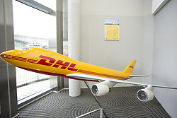 July 19, 2017 - Hong Kong, Hong Kong, Hong Kong - The photographs shows the DHL logo on the model displayed in the exhibition hell, in Hong Kong on Apr 17, 2017. (Credit Image: © Chan Long Hei/Pacific Press via ZUMA Wire)