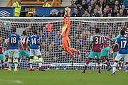 Adrian (West Ham United) makes a save during the Premier League match between Everton and West Ham United at Goodison Park, Liverpool, England on 30 October 2016. Photo by Mark P Doherty.