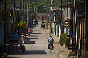 Street scene in Baracoa, Cuba on Monday July 14, 2008.